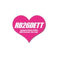 RB26DETT HEART PINK STICKER -  ハート ピンク ステッカー / JDM NISSAN GTR SKYLINE 日産 ニッ サン スカイライン