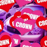 CROWN HEART PINK STICKER - クラウン ハート ピンク ステッカ ー / TOYOTA トヨタ JDM VIP セダン