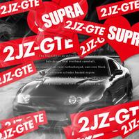 2JZ-GTE RED STICKER  - ステッカー / JDM USDM カスタム SUPRA ARIST スープラ アリスト ドリフト