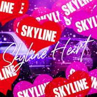 SKYLINE HEART RED STICKER - スカイライン ハート レッド ステッカー / NISSAN GTR 日産 JDM  ドリフト カスタム