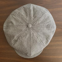 RAGTIME PEAKY HAT LINEN HOUNDS TOOTH