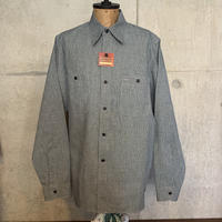 RAGTIME TRIPLE STITCH SHIRTS HOUNDSTOOTH DENIM