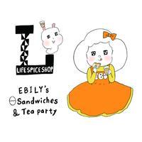 EBILYs Sand wiches & Tea party  予約チケット 【たまごサンド&チャイ1人前】  1000円 (当日店頭でお支払いください)