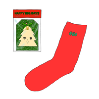 EBI SOCKS & HOLIDAY ORNAMENT  holiday red