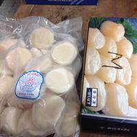 ホタテ貝柱 Mサイズ1箱1kg(冷凍)