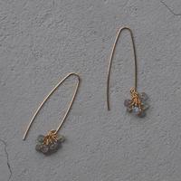 SU K14GF Long hook tsubu-tsubu pierced earring labradorite