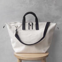 CaBas N°32-Bowler bag medium + Shoulder strap White/Black