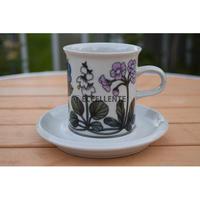 【北欧ヴィンテージ】【アラビア】フローラ コーヒーカップ&ソーサー