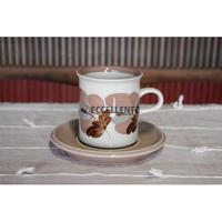 【北欧ヴィンテージ】【アラビア】コラッリ コーヒーカップ&ソーサー