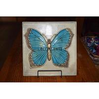 【北欧ヴィンテージ】【グスタフスベリ】【リサ・ラーソン】陶板 フャーリル 青い蝶