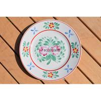 【東欧ヴィンテージ】【ホロハーザ】ハンドペイントフォークロア飾り絵皿
