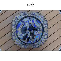 【北欧ヴィンテージ】【ローゼンタール】【ビョルン・ヴィンブラッド】クリスタルガラスクリスマスプレート 1977