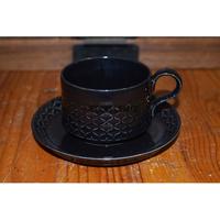 【北欧ヴィンテージ】【イェンス・H・クイストゴー】コーディアル・パレット コーヒーカップ&ソーサー ブラック