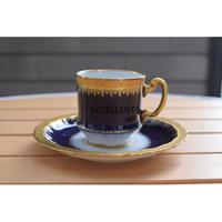 【アンティーク洋食器】【アビランド製陶所】リモージュ デミタスカップ&ソーサー