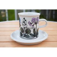 【北欧ヴィンテージ】【アラビア】【エステリ・トムラ】フローラ コーヒーカップ&ソーサー