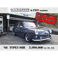 【OHV customs】【ヴィンテージカー】【フォルクスワーゲン】'68 TYPE 3 SQB (チャコールグレー x ブラックインテリア / LH)