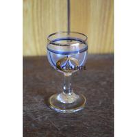【アンティーク洋食器】【ボヘミアガラス】【アールヌーボー】ハンドペイント・ショットグラス