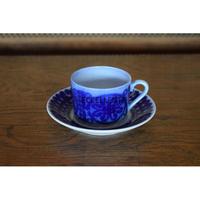【北欧ヴィンテージ】【グスタフスベリ】【スティグ・リンドベリ】ブローヒューサル コーヒーカップ&ソーサー