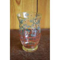 【ヴィンテージ洋食器】【ボヘミアガラス】ハンドペイント ボタニカグラス