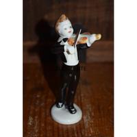 【東欧ヴィンテージ】【ホロハーザ】フィギュリン ヴァイオリンを弾く男の子