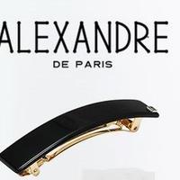 Alexandre de Paris アレクサンドル・ドゥ・パリ  クラシックバレッタ 9*1.5cm ブラック