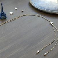 DANILA PARIS étoile クラシック ネックレス ゴールドカラー 星のチャーム・スターチャーム
