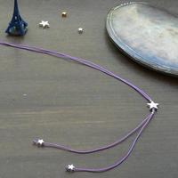 DANILA PARIS  étoile クラシック ネックレス グレーカラー 星のチャーム・スターチャーム