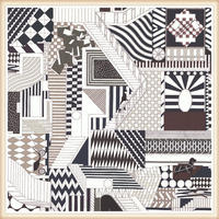 Hermès(エルメス)壁紙 額装☆パネル作成用 モデル:QUATRE CAVALIERS☆サイズ:76.5x68.5cm