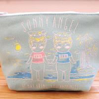 ポーチM Sunny Beach / Pouch M Sunny Beach コスメポーチに最適な嬉しいマチ付き!