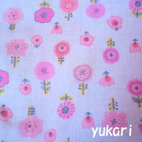 ピンクの花がら(替えカバー)