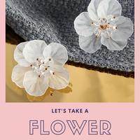 【WEBメディア掲載】耳元に咲くお花♡ピアス