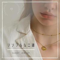 【限定品!】二連ネックレス jewelry set  (ゴールド / シルバー)
