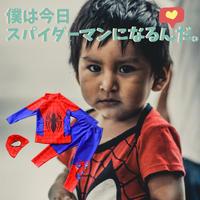 各 80~150cm 【水着帽付き】3点セット!スパイダーマン水着/ 男女kids