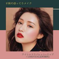 【秋のセクシー❤】シンプルアイシャドウ+秋色マットリップ 2点セット☆
