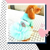 わんこの冬服♡Tiffany 風♡かわいいドレス (XS~XLまで)