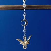 【受注制作】星を運ぶみみずくのイヤリング・ピアス(真鍮)