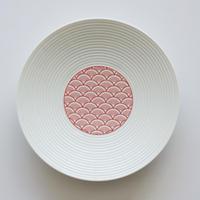 和モダン 15㎝皿 青海波 赤