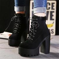 トレンド美脚 厚底 ブーツ ブラック