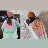 2colour バックロゴオーバーサイズTシャツ