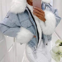 【3colour】Jeans fur jacket