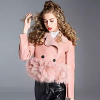 【2colour】fur &leather jackets