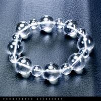 【天然石 | 天然水晶大珠・シンプルブレスレット】守護・心身浄化・バランス調整