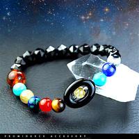 【天然石|宇宙銀河・太陽系惑星配列・エネルギーブレスレット】守護・幸運・成功・魔除け・開運・宇宙・パワーストーン