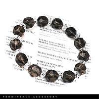 【天然石 | スターカット・スモーキークォーツ・天然水晶ブレスレット】守護・邪気除け・魔除け・癒し・心身浄化