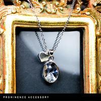 【天然石 | カット水晶・ハートチャームシルバー925ペンダント】守護・心身浄化・幸運・パワーストーン