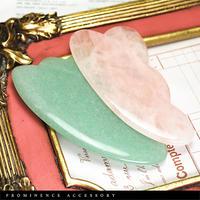 【天然石 | ローズクォーツ・アベンチュリン・高級かっさプレート】美顔・美容・マッサージ・エステ