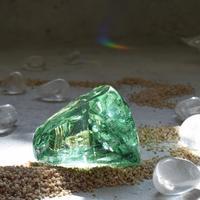 シアンのアンダラクリスタル(シエラネバダ産)お守り石