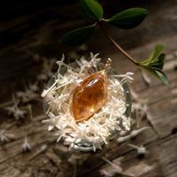 オレンジのペンダント★アンダラクリスタル(インドネシア産)