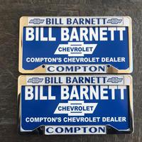 BILL BARNETT COMPON ライセンスプレートとフレームSet