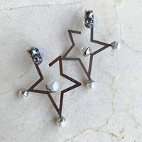 Frame Star  pierce/earring (silver)